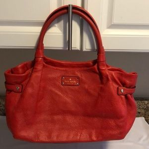 Kate Spade red leather bag